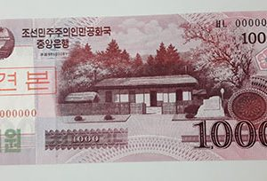 Foreign banknote of the beautiful design of North Korea in 2008-ffk