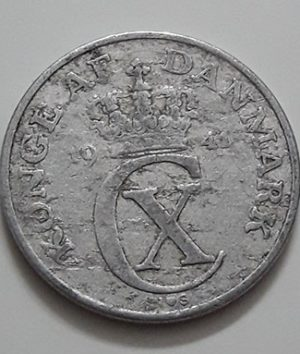 Extremely rare and valuable foreign coin of Denmark in 1941, rarely seen in Iran-ffi