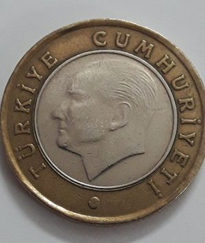 Foreign bimetallic coin of Turkey in 2009-wyy