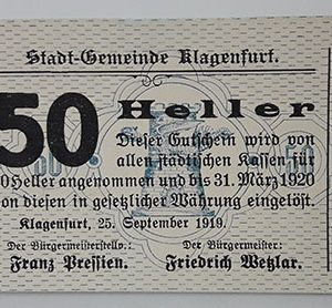 Foreign gold banknote from Germany, 1919, one-sided printing-txx
