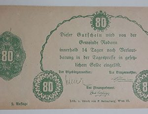 Foreign banknote of the beautiful design of Net Gold in Germany (100 years old)-jtj