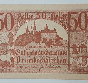 Foreign banknote of the beautiful design of Net Gold in Germany in 1920-tkk