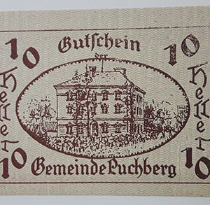 Foreign banknote of the beautiful design of Net Gold in Germany in 1921-tll