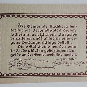 Foreign banknote of the beautiful design of Net Gold in Germany in 1921-ltl