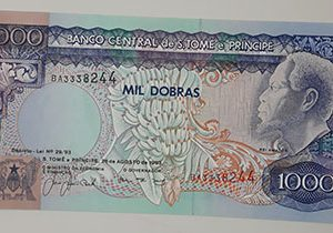 Very rare and valuable foreign currency of the country of Sao Tome-hhm