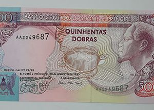 A very rare and valuable foreign banknote from the country of Sao Tome in 1993-hhs