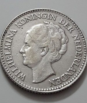 1/2 silver silver coin of the Netherlands in 1930-hhr
