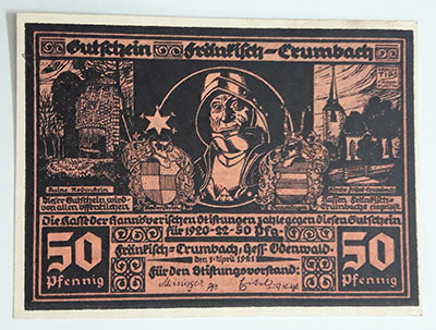 Foreign banknote of the beautiful design of Net Gold in Germany (100 years old)-roo