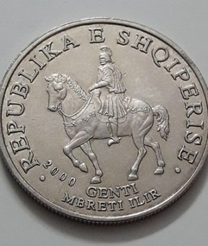 Foreign coin of the beautiful design of Albania in 2000-lmn