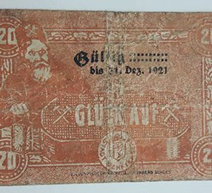 Foreign banknote of the beautiful design of Net Gold in Germany in 1920-tut