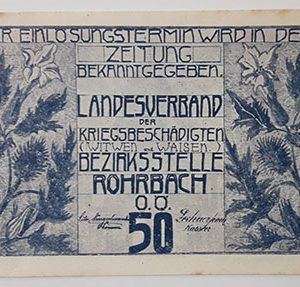 Foreign banknote of the beautiful design of Net Gold in Germany (100 years old)-byb