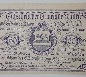 Foreign banknote of the beautiful design of Net Gold in Germany in 1920-jyj