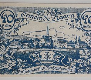 Foreign banknote of the beautiful design of Net Gold in Germany in 1920-ykk