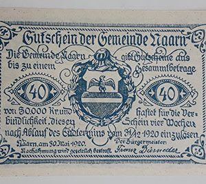 Foreign banknote of the beautiful design of Net Gold in Germany in 1920-kyk
