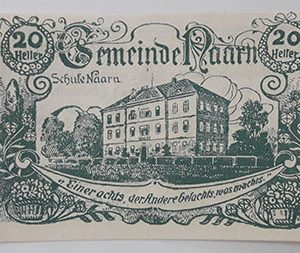 Foreign banknote of the beautiful design of Net Gold in Germany in 1920-yll