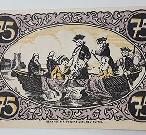 Foreign banknote of the beautiful design of Net Gold in Germany-yii