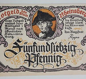 Foreign banknote of the beautiful design of Net Gold in Germany-iyi