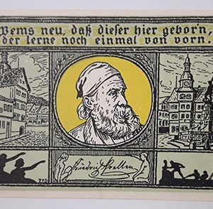 Foreign banknote of the beautiful design of Net Gold in Germany (100 years old)-ucc