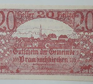 Foreign banknote of the beautiful design of Net Gold in Germany in 1920-uvv