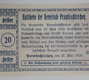 Foreign banknote of the beautiful design of Net Gold in Germany in 1920-vuv