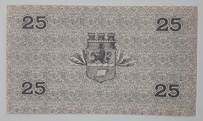 25 Phoenix banknote from Germany in 1917-ptp