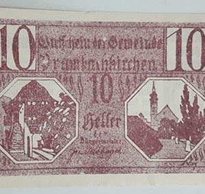 Foreign banknote of the beautiful design of Net Gold in Germany in 1920-udd