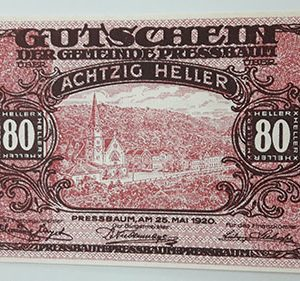 Foreign banknote of the beautiful design of Net Gold in Germany in 1920-uff
