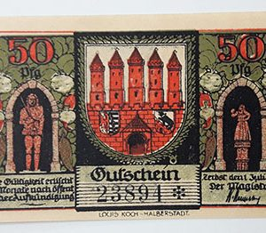 Extraordinarily beautiful foreign banknote from Germany in 1921-uhh