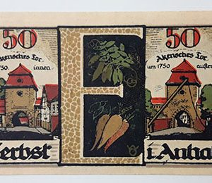 Extraordinarily beautiful foreign banknote from Germany in 1921-huh