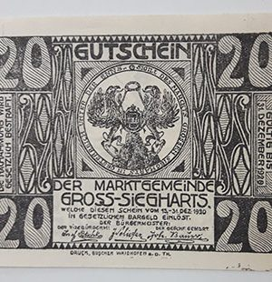 Foreign banknote of the beautiful design of Net Gold in Germany in 1920-epe