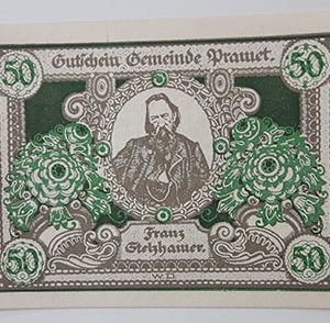 Foreign banknotes of different and beautiful design of Net Gold of Germany-pll