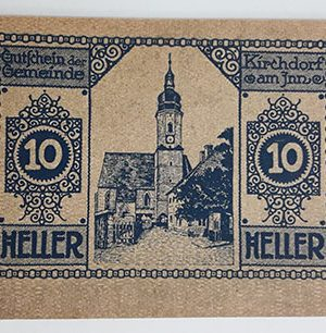 Foreign banknote of the beautiful design of Net Gold in Germany (100 years old)-pss