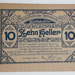 Foreign banknote of the beautiful design of Net Gold in Germany (100 years old)-sps