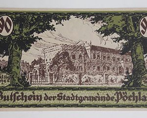 Foreign banknote of the beautiful design of Net Gold in Germany (100 years old)-paa