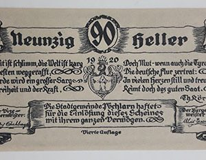 Foreign banknote of the beautiful design of Net Gold in Germany (100 years old)-apa