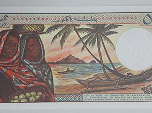 Extremely rare and valuable foreign banknotes of Comoros, very beautiful design-vpv