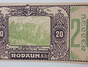 Foreign banknote of the beautiful design of Net Gold in Germany (100 years old)-opp