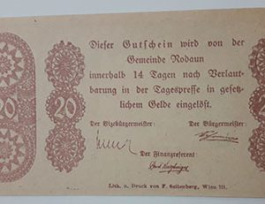 Foreign banknote of the beautiful design of Net Gold in Germany (100 years old)-pop