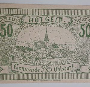 Foreign banknote of the beautiful design of Net Gold in Germany in 1920-okk