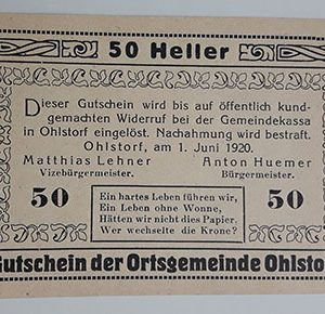 Foreign banknote of the beautiful design of Net Gold in Germany in 1920-kok