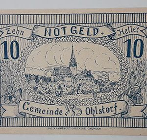 Foreign banknote of the beautiful design of Net Gold in Germany in 1920-ojj