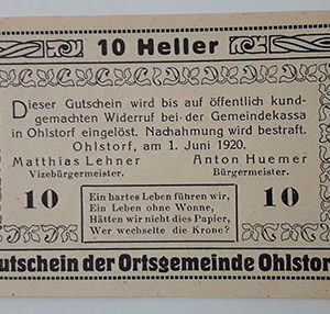 Foreign banknote of the beautiful design of Net Gold in Germany in 1920-joj