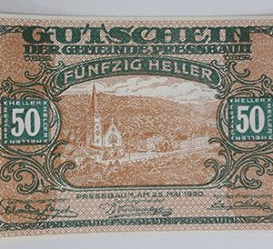 Extraordinarily beautiful foreign banknote from Net Gold, Germany, 1920-ovv