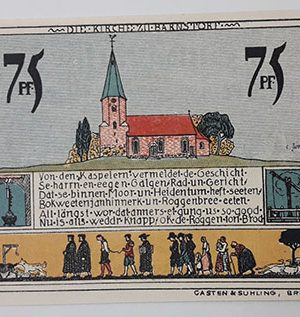 Extraordinarily beautiful foreign banknote from Germany in 1921-oxx