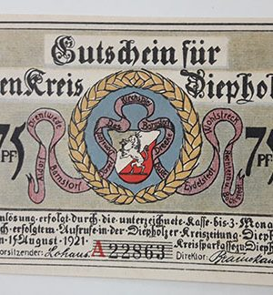 Extraordinarily beautiful foreign banknote from Germany in 1921-xox