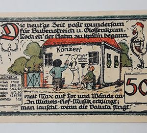 Extraordinarily beautiful foreign banknote from Net Gold, Germany (100 years old)-ozz