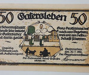 Extraordinarily beautiful foreign banknote from Net Gold, Germany (100 years old)-zoz