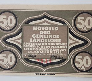 Extraordinarily beautiful foreign banknote from Net Gold, Germany (100 years old)-pip