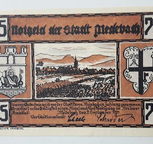 Foreign banknote of the beautiful design of Net Gold in Germany (100 years old)-iqq