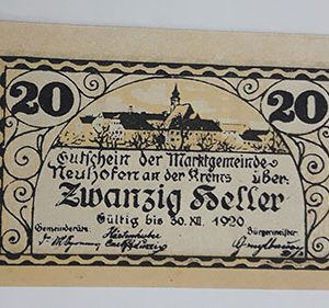 Foreign banknote of the beautiful design of Net Gold in Germany (100 years old)-ijj